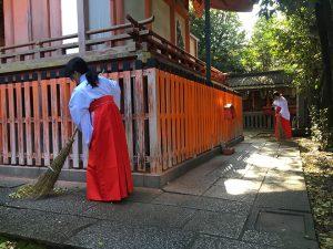 命名名付け 武信稲荷神社巫女体験風景写真5