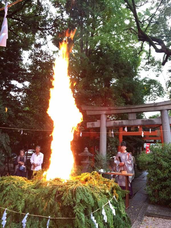 命名名付け武信稲荷神社お火焚き画像