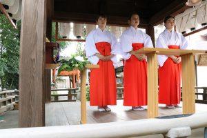 命名姓名判断 武信稲荷神社巫女体験風景写真6