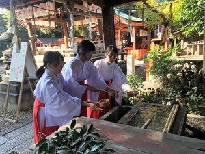 姓名判断 武信稲荷神社巫女体験風景写真6