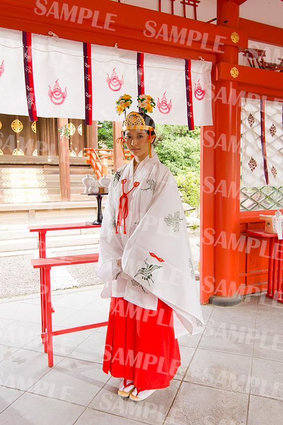 命名姓名判断 武信稲荷神社巫女体験写真見本